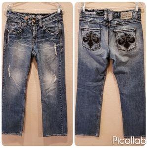 AFFLICTION Denim Killers Distressed Jeans